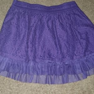 Girls purple.skirt with tulle ruffle at bottom